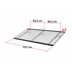 Daszek Meles XL - daszek nad drzwi Arctom, daszki z poliwęglanu