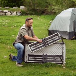 Lifetime stół campingowy i 2x ławka - daszek nad drzwi Arctom