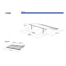 Daszek Largo XL - daszek nad drzwi Arctom, daszki z poliwęglanu