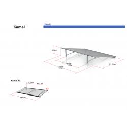 Daszek Kamel XL - daszek nad drzwi Arctom, daszki z poliwęglanu