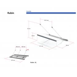 Daszek Rubin XL - daszek nad drzwi Arctom, daszki z poliwęglanu